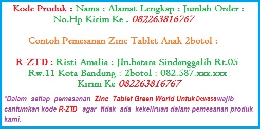 Vitamin Daya Tahan Tubuh Zinc Tablet Anak Dan Dewasa Produk Green